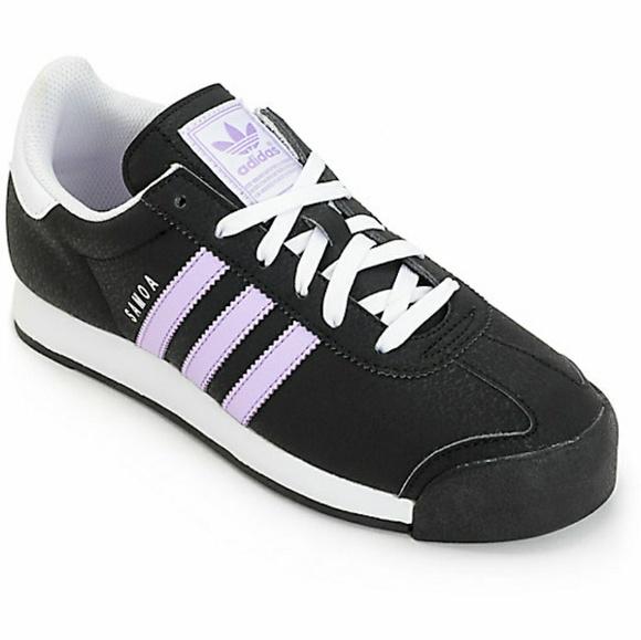 le adidas samoa black purple donne poshmark